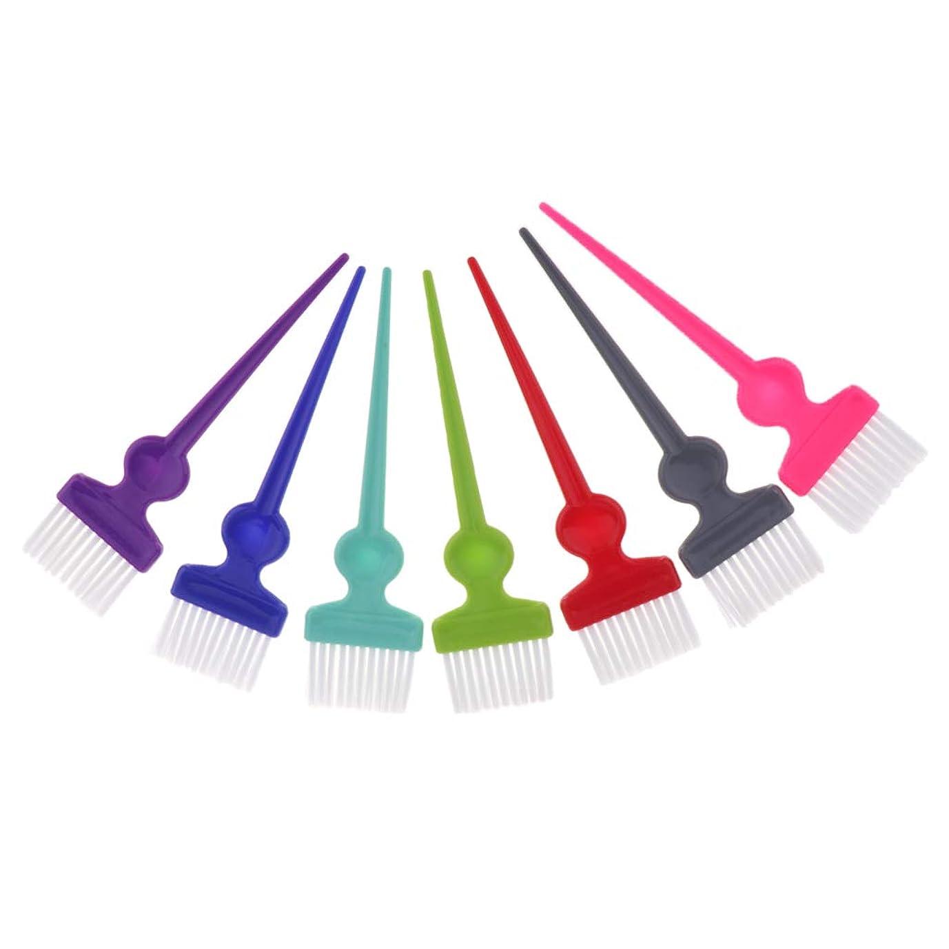 表現鑑定皮肉なヘアダイブラシ ヘアカラーブラシ 毛染め ツール プロ 業務用 美容院 自宅用 便利 7ピースセット