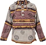 GURU SHOP Goa Kapuzenshirt, Baja Hoody Nepalhoodie, Herren, Cappuccino, Baumwolle, Size:M, Sweatshirts & Hoodies Alternative Bekleidung
