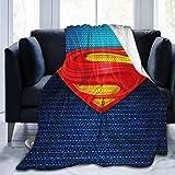 not applicable Superman Superhero Throw Blanket Bettdecke Tagesdecken Mikrofaser Ultra-Soft Mikrofaser Warm Sherpa Fleece Fuzzy Throw Decken für Couch Bett Schlafzimmer Sofa