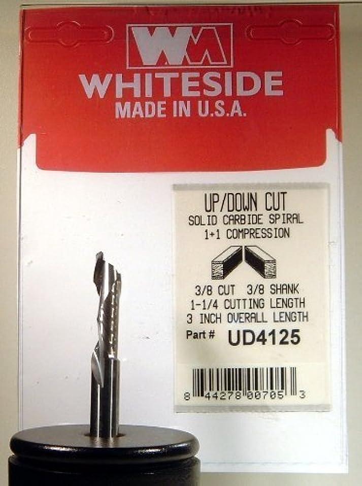 旅行とても多くの構造的ホワイトサイドルータビットud4125?Up / Downカットスパイラルビットwith Solid Carbide 1?+ 1圧縮切断直径3?/ 8インチbyホワイトサイドルータビット