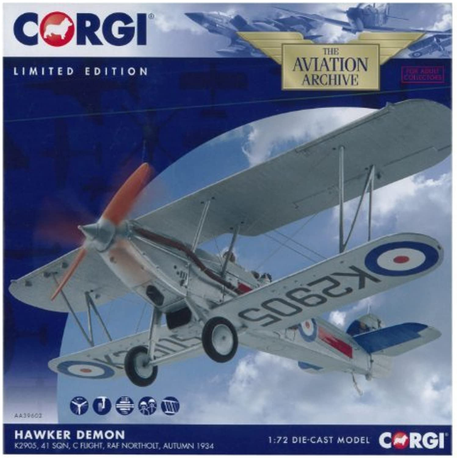 Corgi 1 72 Hawker Demon K2905 Aircraft Model by Corgi