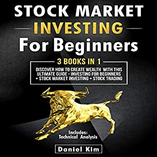 Stock Market Investing for Beginners: 3 Books in 1 audiobook cover art