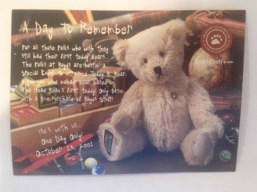 """Boyds Mohair Teddy B. Bear #50004 8"""""""