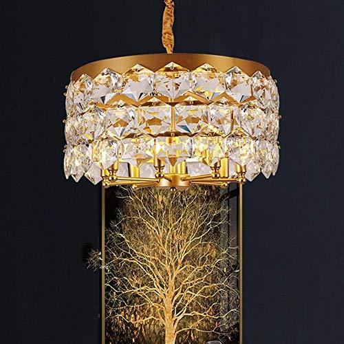 YUNZHI Americana Dormitorio Minimalista lámpara de Cristal de iluminación del Restaurante posmoderno luz araña de Cristal Acogedor