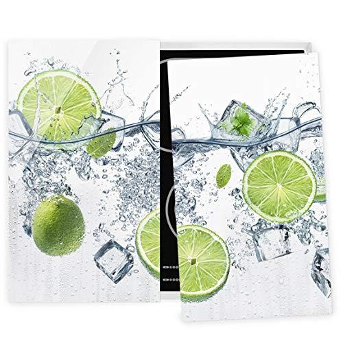 Bilderwelten Couvre Plaque de Cuisson à Induction vitrocéramique - Refreshing Lime 52 x 60 cm