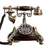 VERDELZ Teléfono Fijo Fijo Europa Vintage Teléfonos Fijos Antiguos Oficina En Casa...