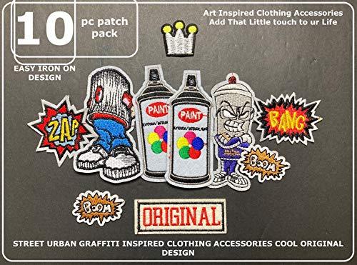 Spray Paint fatcap Artist Design Street Art Urban Graffiti Clothing Patches