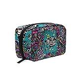 Bolsa de maquillaje musical pequeña bolsa de maquillaje mini para mujeres y niñas neceser organizador con compartimentos accesorios de viaje