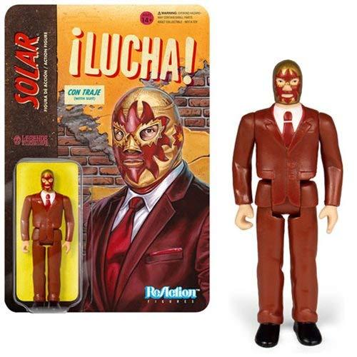SUPER7 Legends of Lucha Libre Reaction Action Figure Solar in Suit 10 cm Figures