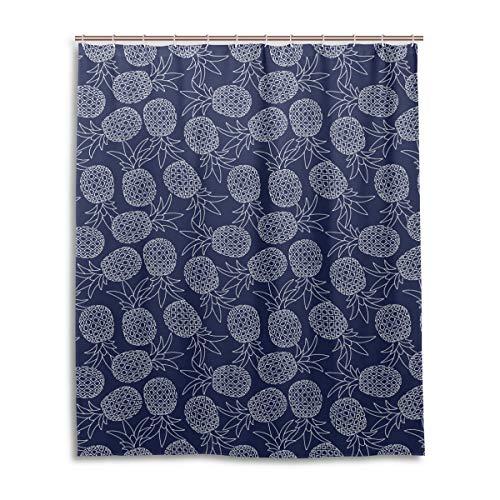 JSTEL Decor Ananas Rideau de Douche imprimé 100% Polyester 152 x 183 cm