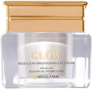 MyGlamm GLOW Iridescent Brightening Eye Cream, 15 ml - Reduces Fine Lines & Wrinkles Around Eyes