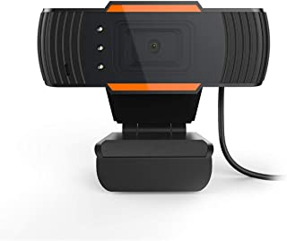 480P Live Streaming Webcam,Built-in Digital Microphone and Three LED Lights,Fit for Various Video Meeting Software
