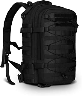 Tactical Backpack Military Backpack Molle But Out Bag Assault Bag Trekking Rucksack for Travel Camping Climbing, Black