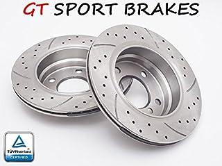 GT FRONT BRAKE DISCS 1729GT RENAULT SCENIC / MEGANE II 2002 2003 2004 2005 - 280