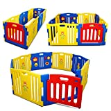 Kidzone? Baby Playpen Kids 8 Panel Safety Play Center Yard Home Indoor Outdoor Pen (Blue) by Kidzone