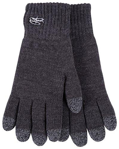2Stoned Touch-Screen Handschuhe Winter Frauen und Männer in Anthrazit, Größe M