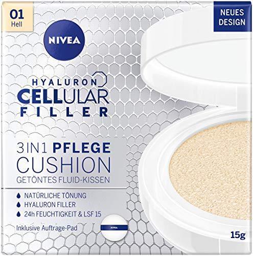 NIVEA 3in1 Anti-Age Pflege Kissen für natürliche Tönung und Feuchtigkeit, Für Helle Hauttypen, 15 g
