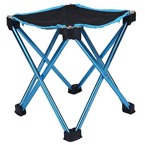 JPOYT-O Taburete Plegable Portátil Aleación De Aluminio Silla De Pesca Asiento para Acampar Al Aire Libre (Azul) Equipo De Pesca
