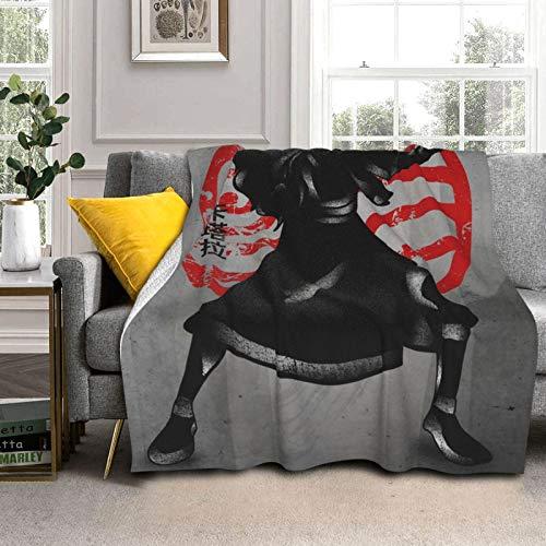 CHENQIAN Coperta Double-Face Super Morbida Kat-Ara: Cashmere/Silver Fox.Leggero, Morbido, Peluche, soffice, Caldo e Confortevole, Molto Adatto per Camera da Letto e Soggiorno 80'X60.