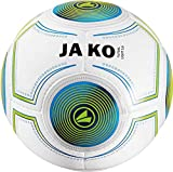 JAKO Herren Ball Futsal Light 3.0, weiß blau/neongrün-290g, 4