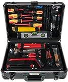 """KS Tools 911.0628 1/4' + 1/2"""" Maletín de Herramientas de Electricista, 128 pzs."""