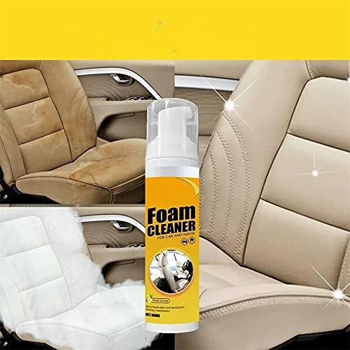 Limpiador de espuma multiusos, Espuma en aerosol para limpiador interior del automóvil, Limpiador con champú para asientos de automóvil, Limpiador de cuero para automóviles (1 Uds)