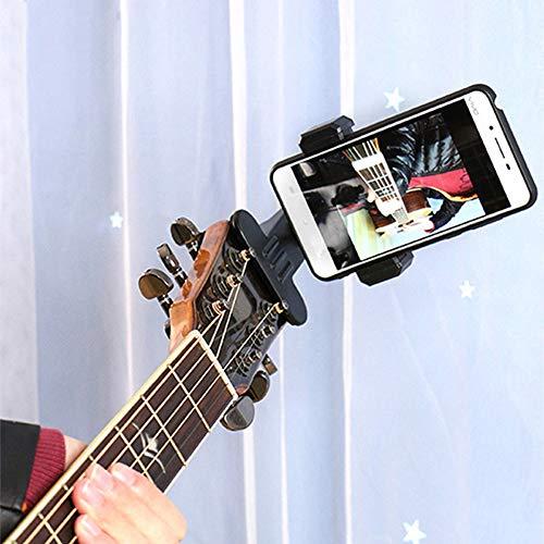 ZEXIN Guitar Head Clip Mobile Phone Holder Guitar Phone Holder Guitar Phone Clip Guitar Accessories