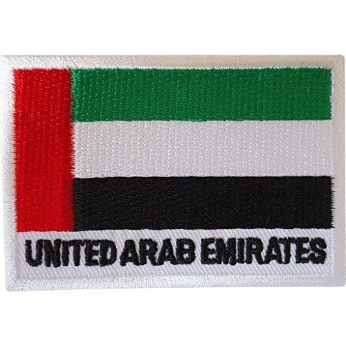 Aufnäher, Motiv: Flagge der Vereinigten Arabischen Emirate, bestickt, zum Aufbügeln oder Aufnähen, für Kleidung, Tasche, VAE
