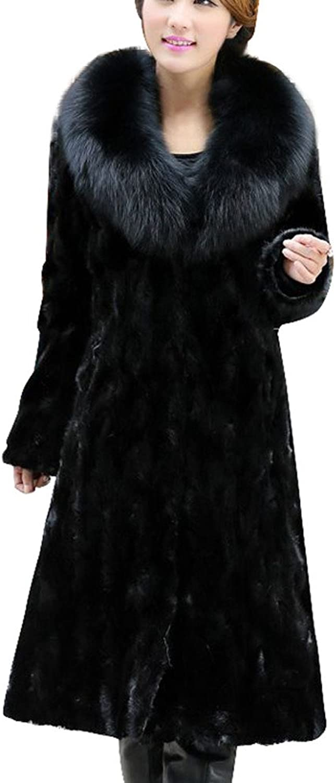 PXiong Womens Winter Warm Long Coat Jacket Faux Fur Plus Size Parka Cardigan