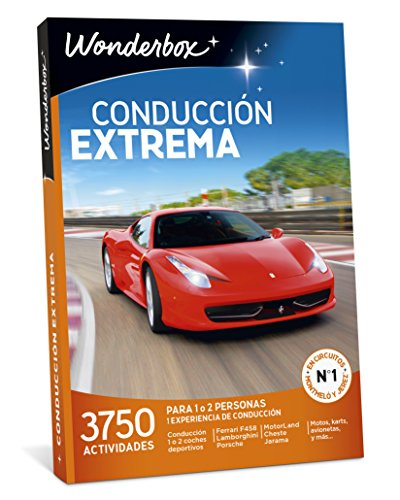 WONDERBOX Regalo -CONDUCCIÓN Extrema- 3.750 experiencias de conducción para Dos Personas