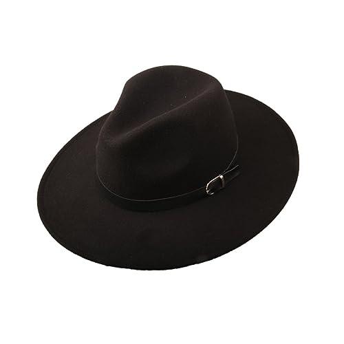 f71efab52 Wide Brim Black Hat: Amazon.com