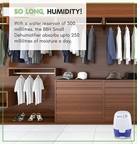 Better & Brighter Homecare 500ml Thermoelectric Energy Efficient Dehumidifier Air Purifier with Auto Shut-off (White)