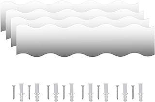 Nishore Set Espejos Vidrio Ondulado de Pared 4 Piezas con un Diseño Limpio y Sin Marcos, Decoración para Hogar, 110 x 23cm