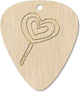 7 x 'Heart Lollipop' Guitar Picks / Pendants (GP00015420)