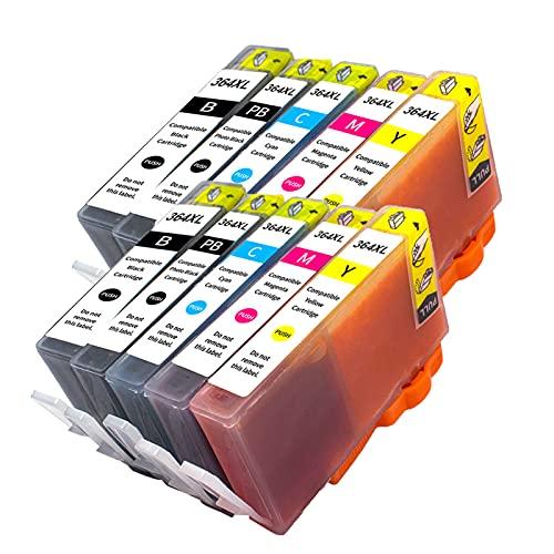 RICR Reemplazo de Cartuchos de Tinta 364XL para HP Photosmart B8550 Wireless Plus Premium Estación OfficeJet 4620 DeskJet 3070A Impresora Two Pack