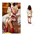 Pijama para niños, Mangas Cortas Finas súper Lindas de Fresa, Traje de Servicio a Domicilio de Kimono japonés de algodón Puro para niñas-Puro algodón_El 110cm