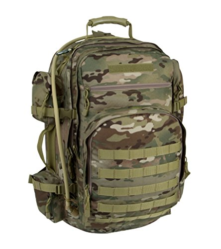 Mercury Tactical Gear Code Alpha Campaign Recon Backpack with 3l Hydrapak Hydration System, Multicam