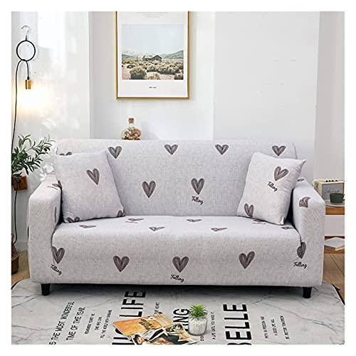 QYSM Cubierta de sofá elástica Cubierta de sofá para Sala de Estar Sillón Sillón Sección L-Forma Sofá Sofá Protector de Muebles Poliéster (Color : 4, Size : 1-Seat 90-140cm)
