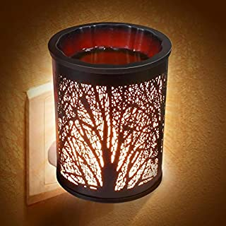 Foromans Plug-in Fragrance Wax Melt Warmers Outlet Oil Warmer for Wax Melts Tarts & Cubes Metal Black Forest Tree 20W