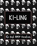 KI-LING The Best KPOP Fandom: Best KPOP Gift Fans Cute Panda Monthly Planner 8'x10' Book 110 Pages Book