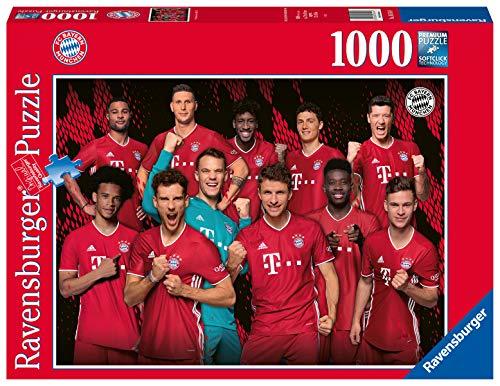 Ravensburger Puzzle 16514 - FC Bayern Saison 2020/2021 - 1000 Teile Puzzle für Erwachsene und Kinder ab 14 Jahren, Puzzle des FC Bayern München