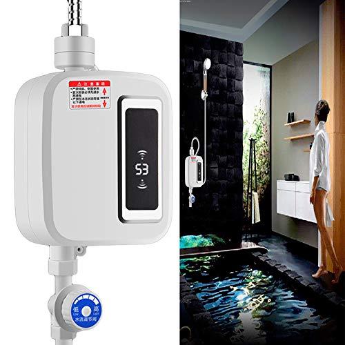 ASDF Scaldabagno Elettrico istantaneo Senza Serbatoio 3000W, Mini Acqua Calda istantanea a Temperatura costante per Doccia con Rubinetto, Riscaldamento della Cucina, Acqua Calda 3 Secondi