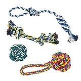Vacker Design - Corda da masticare per dentizione, tiro e gioco, 100% corda di cotone naturale per cuccioli, per cani di piccola taglia