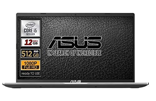 Asus Vivobook SLIM, SSD da 500 Gb, Cpu Intel i5 di 10th GEN. 4 Core, 12Gb DDR4, Display da 15,6 FULL HD, wi-fi, 4 Usb, Bt, Sk Video Intel UHd 620, Win 10 pro, Pronto All'uso Gar. Italia