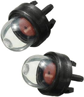 TOPofly Burbuja Mini carburador Aceite Bulbo Gasolina Snap cebador de Combustible de la Bomba Kit para Cortasetos cortadora de césped Motosierra Accesorios 2 Piezas