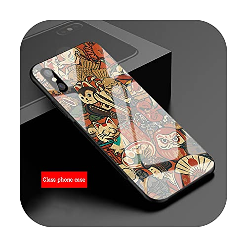 Funda de vidrio templado japonés para iPhone 11 Pro Max XS Max XR X 8 7 6 5 SE 7Plus 6Plus SE 2020 Cover-B19112108-09.jpg-Para iPhone 11Pro Max