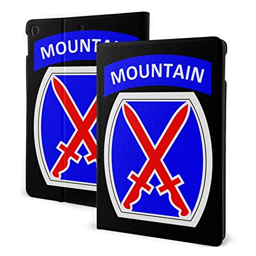 Fejarx U.S.Army 10th Mountain Division The New Ipad Eighth Generation (2020)/Seventh Generation (2019)/ 10.2-Inch Shell-Corner Protection Multi-Angle Split Case