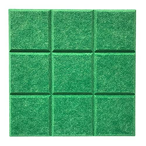 10 Paquetes De Paneles Acústicos Que Absorben El Acolchado De Fieltro De Sonido De Sonido 11.8'x11.8' X 0.4'paneles A Prueba De Sonido Para El Hogar, Kindergarten, Estudio Y Ofici(Color:Verde Gema)