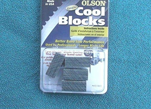 GENUINE OLSON COOL BLOCKS REPLACES DELTA 28-150 BAND SAW BLADE GUIDE BLOCKS -  BSAWWS