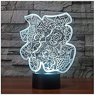 Chinese Traditional Blessing Creative Gift LED Night Light for Chinese New Year Holiday